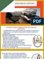 TEMA 4 CONDICIONES PARA EL ESTUDIO 2