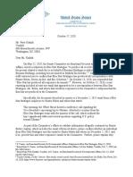 Johnson Letter to Blue Star - October 17, 2020