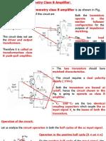 Class B Complementary Symmetry Power Amplifier