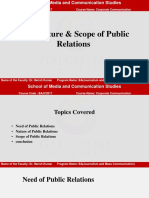 2. Need, Nature & scope of public relations