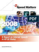 Communications Workers of America Report on Internet Speeds 2008