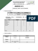 ANEXO # 3  DESCRIPCI‡N DEL LUGAR Y ACTIVIDADES