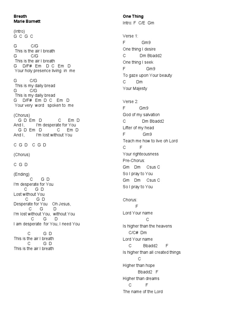 Chords Song Structure Salvation