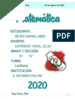Reyes 5A (MATEMATICA) (SEMANA 21) (25 DE AGOSTO)
