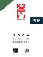 Depliant Spedizione K2 - Scoiattoli - 2004