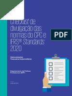 Checklist - Divulgação dos CPCs IFRS 2020 - Demonstrações Financeiras Intermediarias