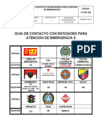 FT-SST-049 (GUIA DE CONTACTO CON ENTIDADES PARA ATENCIÓN DE EMERGENCIAS)