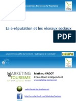 47300418 E Reputation Et Reseaux Sociaux 3ieme Rencontres Euroises Du Tourisme Marketing Tourisme 2010