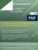 DÉBUTER AVEC APP INVENTOR APPLICATIONS 1