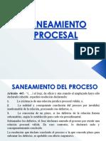SANEAMIENTO  PROCESAL