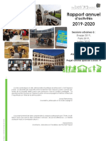 Rapport annuel d'activités 2019-2020