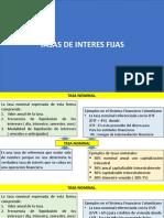 TASAS DE INTERES FIJAS - 1RA PARTE