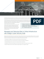 Adhering to NIST Cybersecurity Framework with Indegy Security Suite