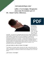 Dolor del cuello o Cervicalgia