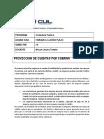 CUL finanzas Proyeccion de cuentas por cobrar actividad y taller