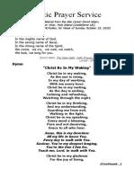 Celtic Prayer Service After David Adam Oct 25'20