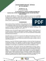 Decreto 150 de 2020_S43 Alcaldía de Puerto Boyacá_ Informativa