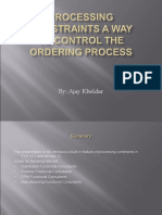 Processing Constraints a Way to Control the Ordering 003