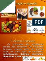 Alimentação e digestão