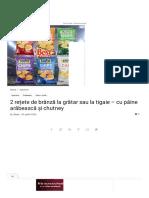 2 Rețete de Brânză La Grătar Sau La Tigaie - Cu Pâine Arăbească Și Chutney _ Savori Urbane