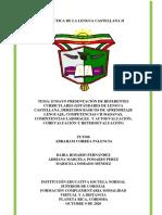 ENSAYO DIDÁCTICA DE LA LENGUA CASTELLANA