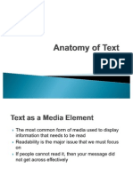Anatomy of Text