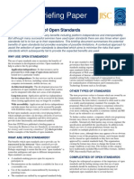 Selection and Use of Open Standards (DRAFT)