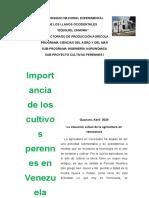 Modulo I Importancias de los cultivos perennes I
