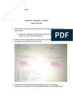 Parcial II ESTADÍSTICA I Ingenierias