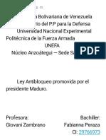 Ley Antibloqueo - Fabianna Peraza