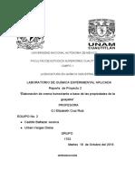 Reporte Crema Humctante