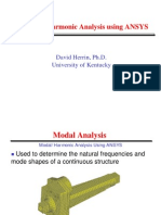 04_Modal and Harmonic Analysis with ANSYS