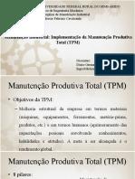 Apresentação do artigo - Manutenção Produtiva Total.pptx