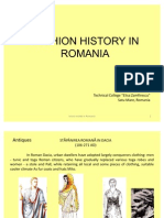 History of Fashion in Romania