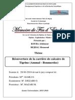 Réouverture de la carrière de calcaire de Tigrine (Ammal - Boumerdes).pdf