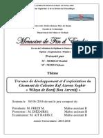 Travaux de développement et d'exploitation du Gisement de Calcaire Kef Azerou Seghir « Wilaya de Bordj Bou Arreridj ».pdf