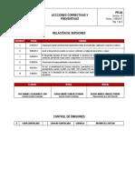 PR-04 Acciones correctivas y preventivas