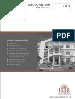 ISBR-2011 Application Form