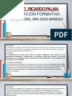EVALUACION FORMATIVA RICARDO PALMA
