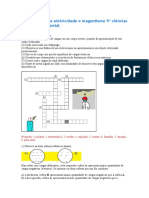 Exercícios sobre eletricidade e magnetismo 9º ciências ensino fundamental