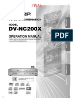 DVD VHS Sharp Manual
