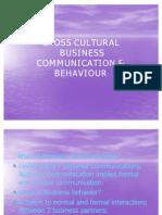 CROSS CULTURAL business communication 09