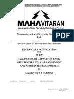 B 1 22 KV 1.2,2.4&3 MVAr Cap Bank Infra Spec 240709