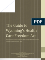 The Guide to Wyoming's Health Care Freedom Amendment