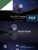 Night Sky Full Moon  PowerPoint Templates.pptx