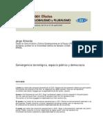Globalización y Convergencia tecnológica