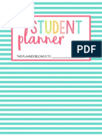 Student Planner for new school year