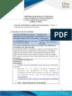 Guia de actividades y Rúbrica de evaluación Tarea 3 - Evaluación financiera de proyectos (1)