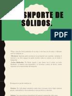 TRASNPORTE DE SÓLIDOS