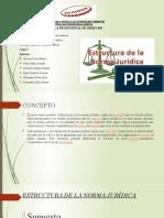 ESTRUCTURA DE LA NORMA JURIDICA